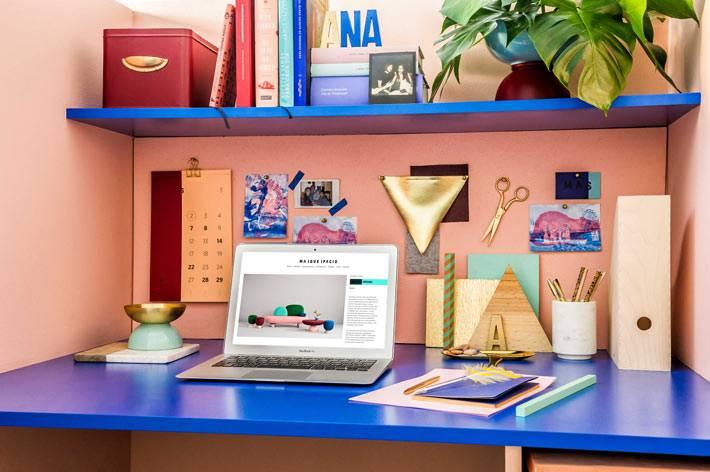 красивая организация порядка на рабочем столе в офисе фото