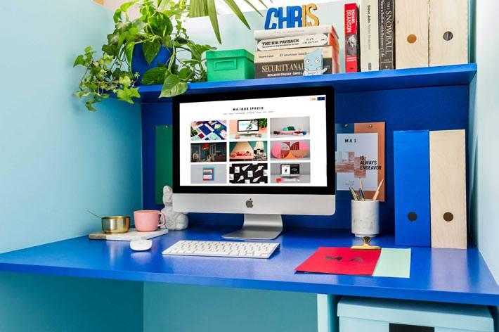 синий цвет для оформления рабочего пространства фото