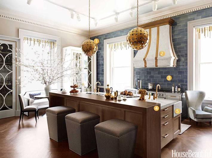 как разделить кухню на зоны - дизайн Matthew Quinn