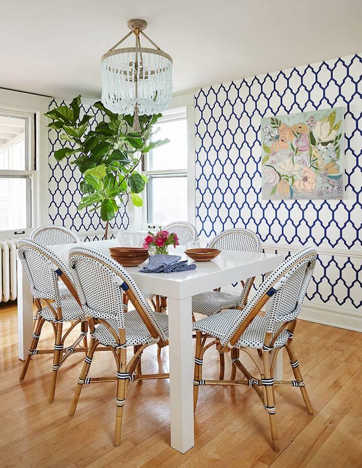 белый цвет и деревянные элементы - красивый декор кухни