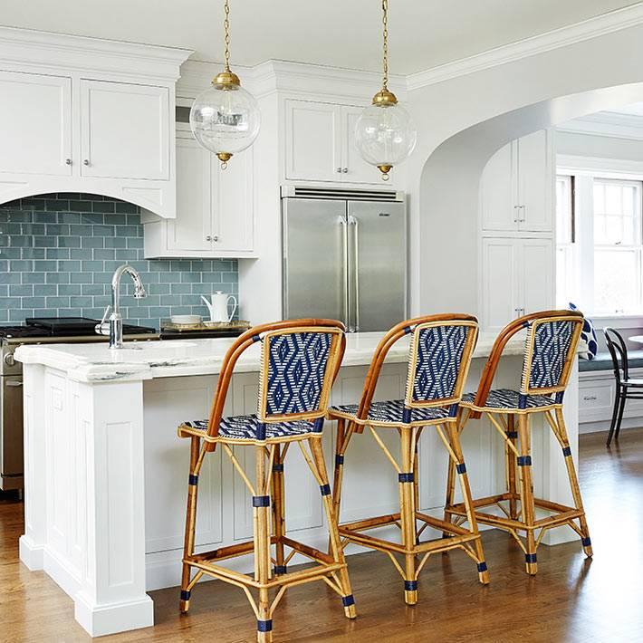 ротанговая мебель - стильный акцент в дизайне кухни