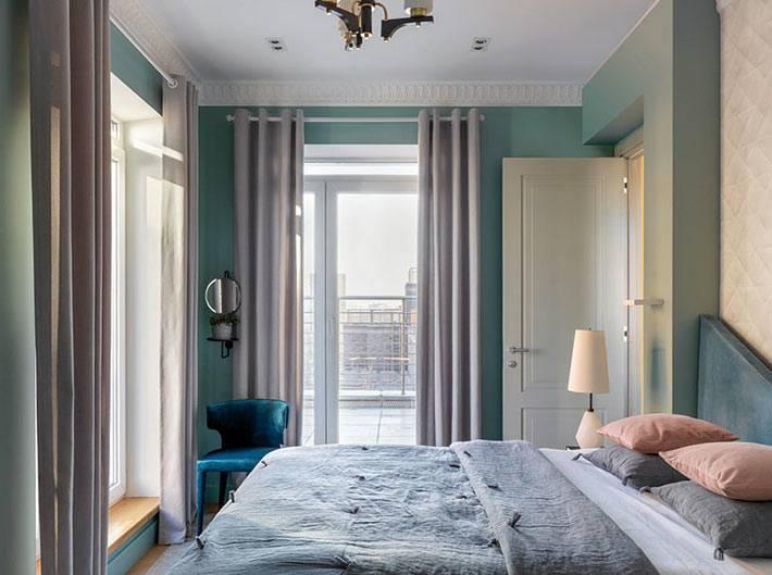 родительская спальня с выходом на террасу фото