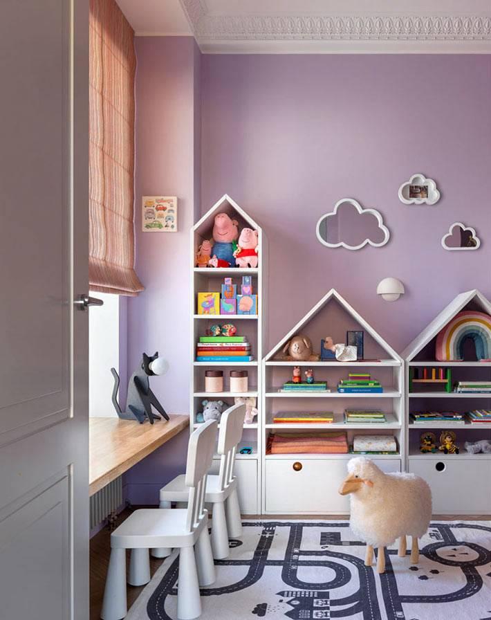 фиолетовый или лиловый цвет стен в комнате ребёнка