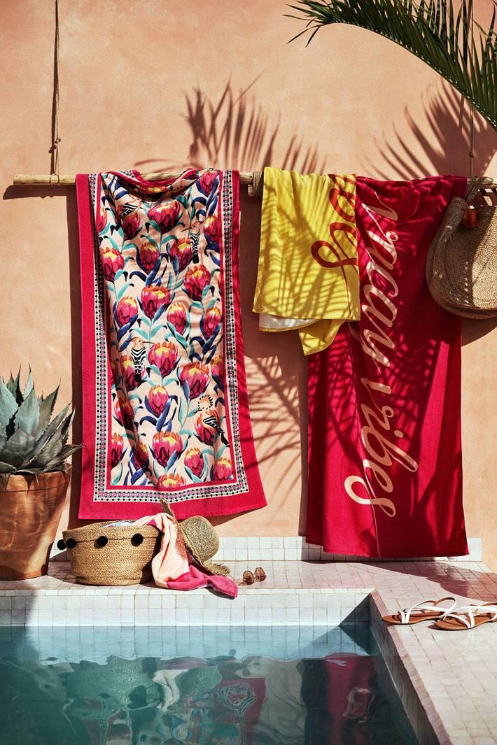яркие пляжные полотенца в коллекции H&M Home Summer Collection 2019