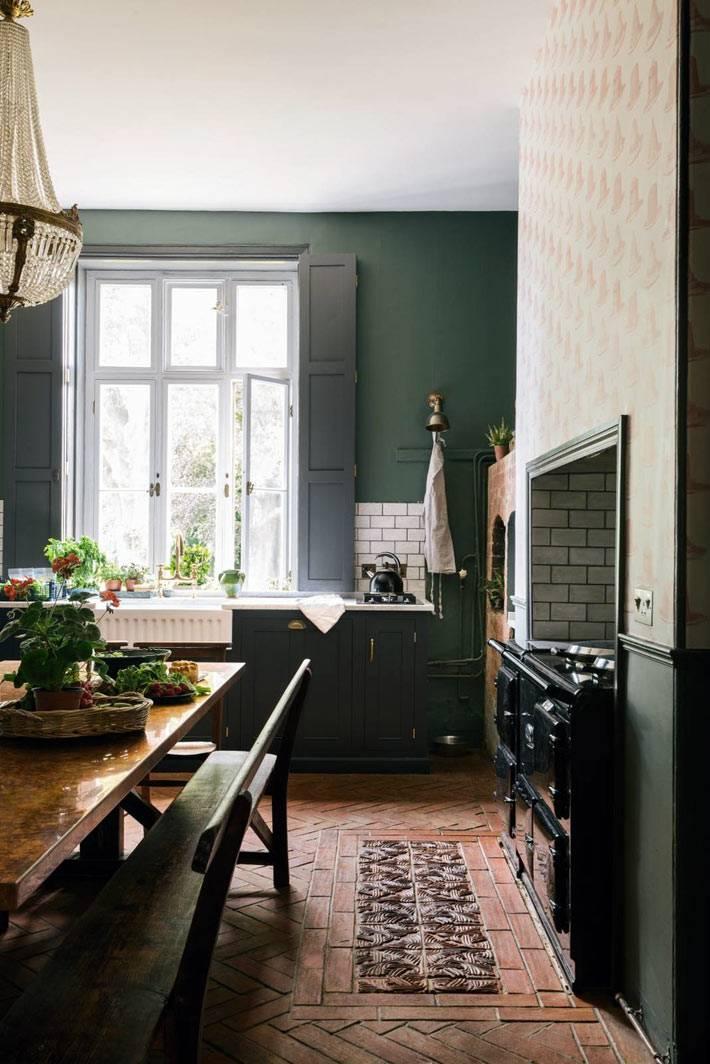 интерьер кухни под старину в викторианском стиле
