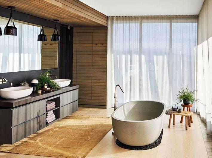 Красивая отдельно стоящая чаша ванны фото