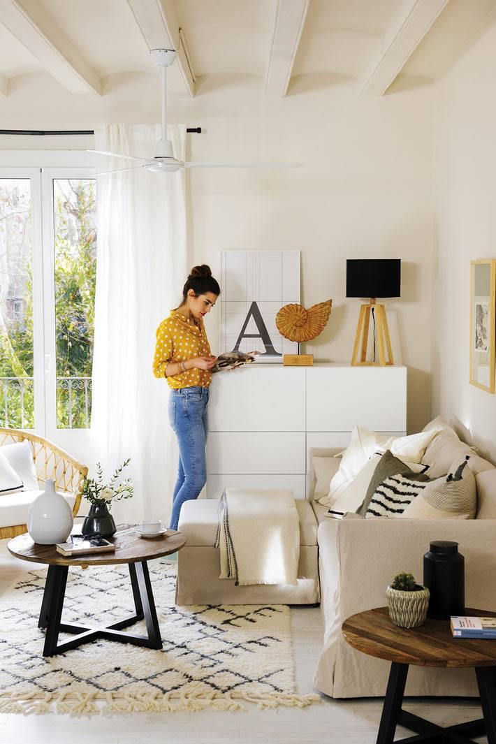 комфортная расстановка мебели в маленькой квартире