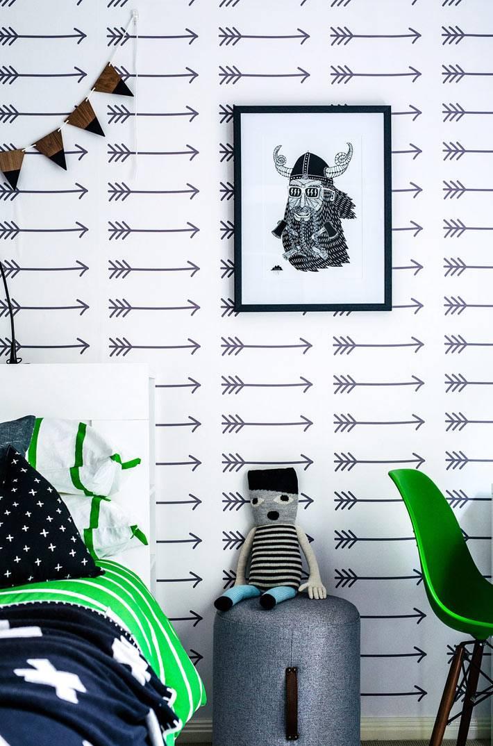 зеленый цвет в оформлении детской комнаты мальчика