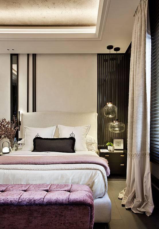 бежево-коричневая спальня в классическом стиле