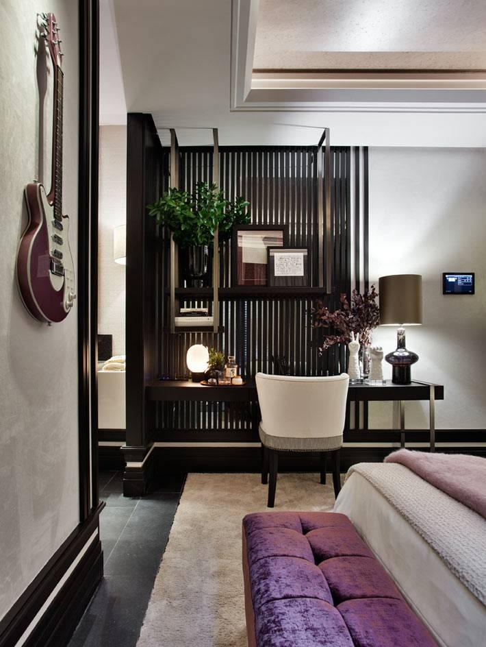 кофейные и бежевые цвета в палитре дизайна спальни