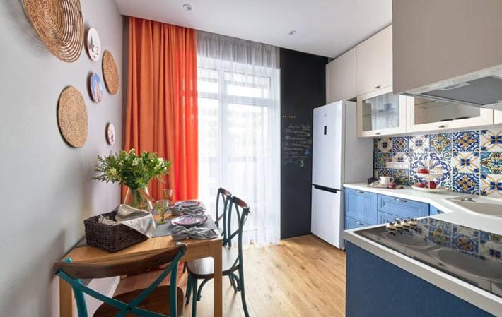 прекрасная кухня для шеф-повара в однокомнатной квартире