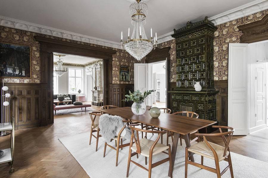скандинавская квартира с просторными комнатами