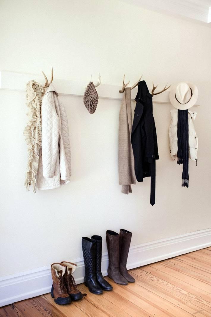 креативная вешалка для одежды в прихожей, крючки из рогов оленя