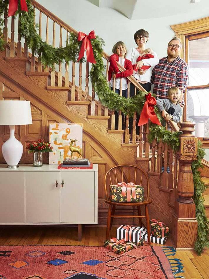 как нарядить частный дом к новогодним праздникам фото