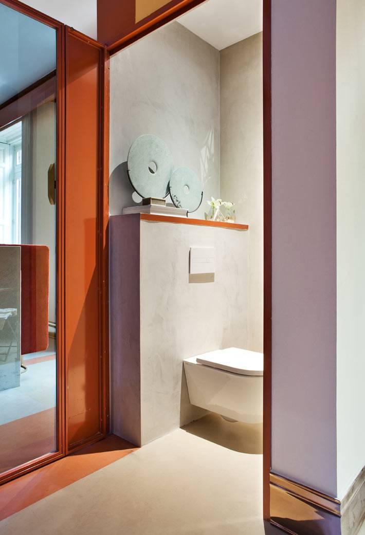 туалетная кабина в спальне, декор для туалетной комнаты