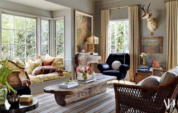 мебель из натуральных материалов - стол из цельного куска дерева