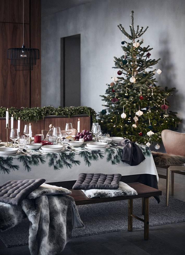 Новогодняя коллекция H&M Home 2019 года фото
