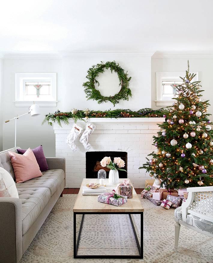 как красиво украсить свой дом к новому году фото