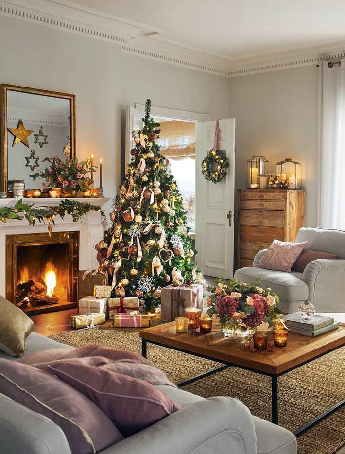 красивое офрмление дома к новогодним праздникам