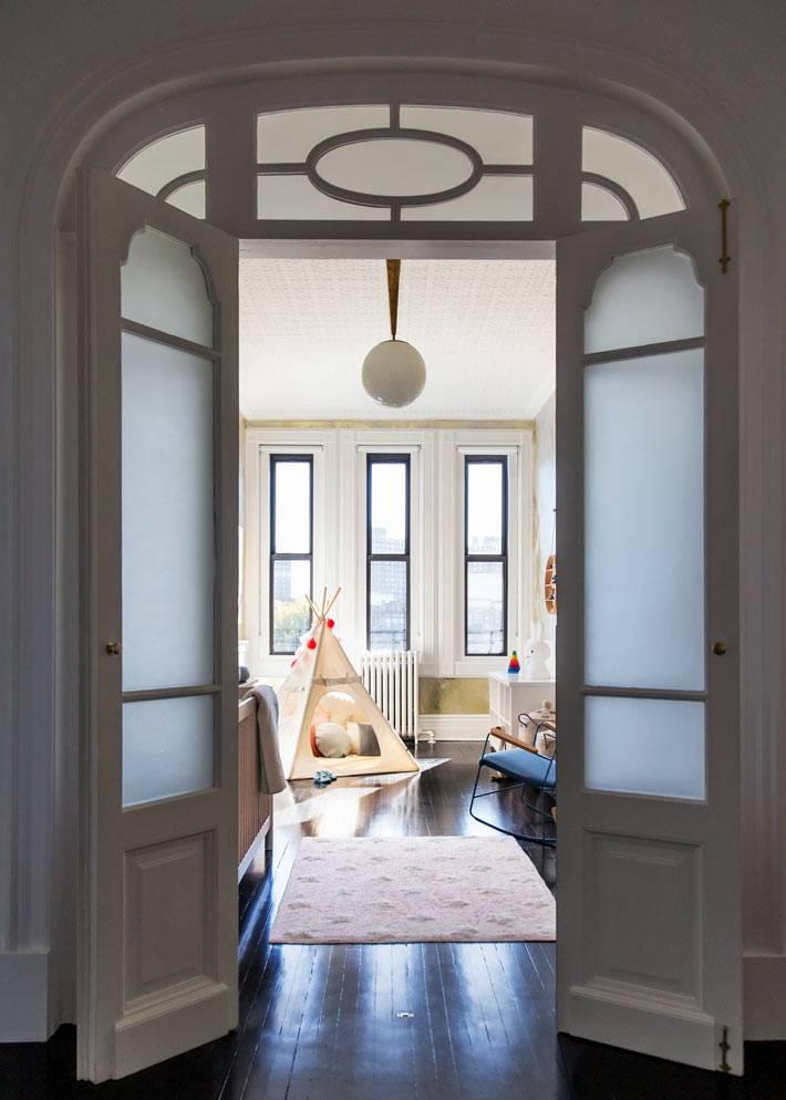 межкомнатные двери с арочным проёмом в детскую