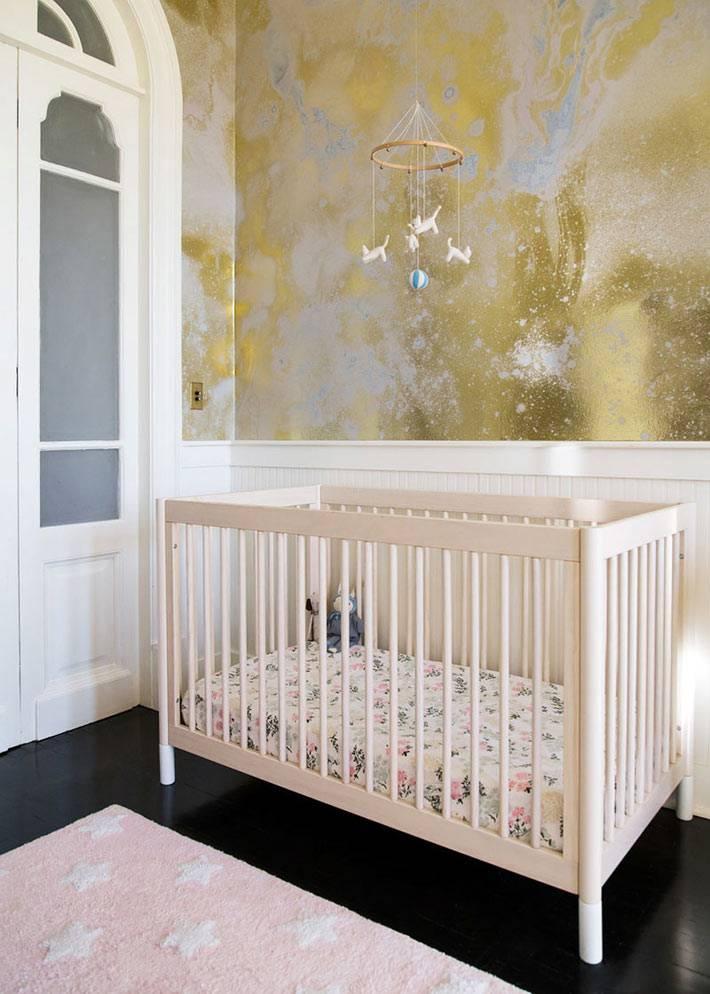 золотистые обои от CalicoxBCXY для детской комнаты