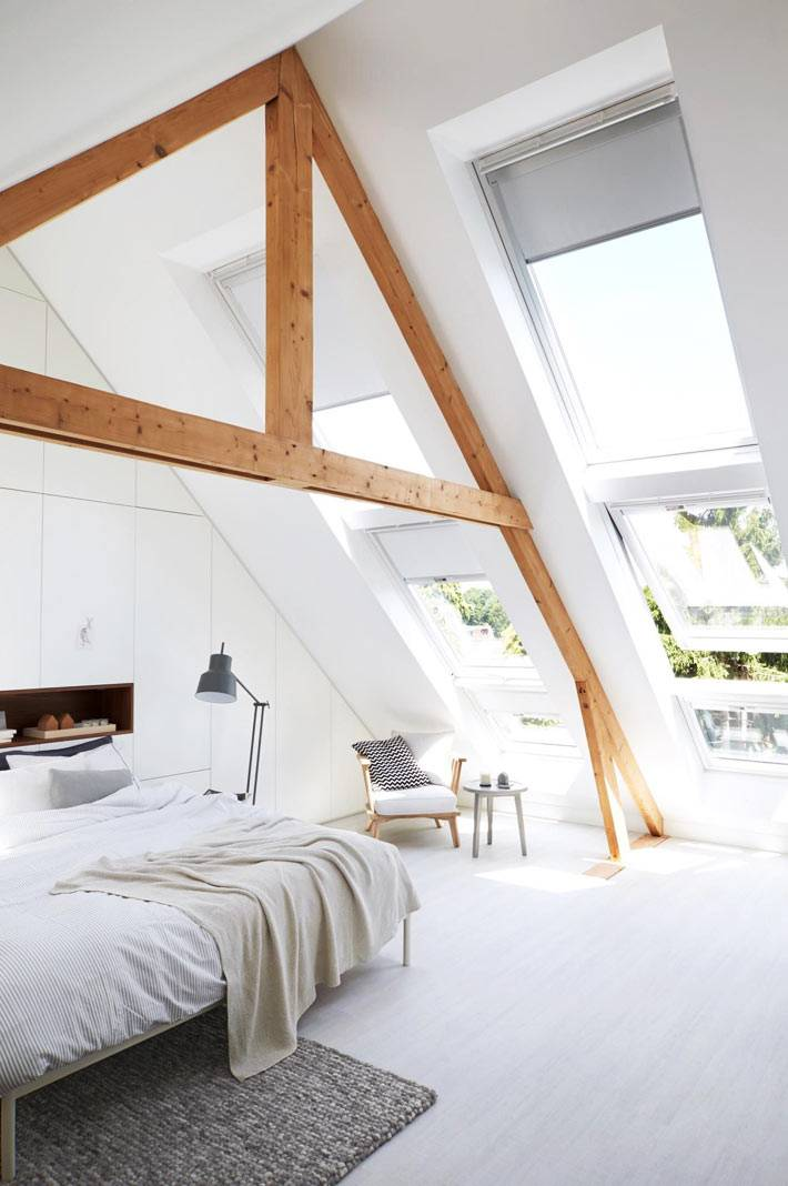 мансардные окна обеспечивают максимальное проникновение света
