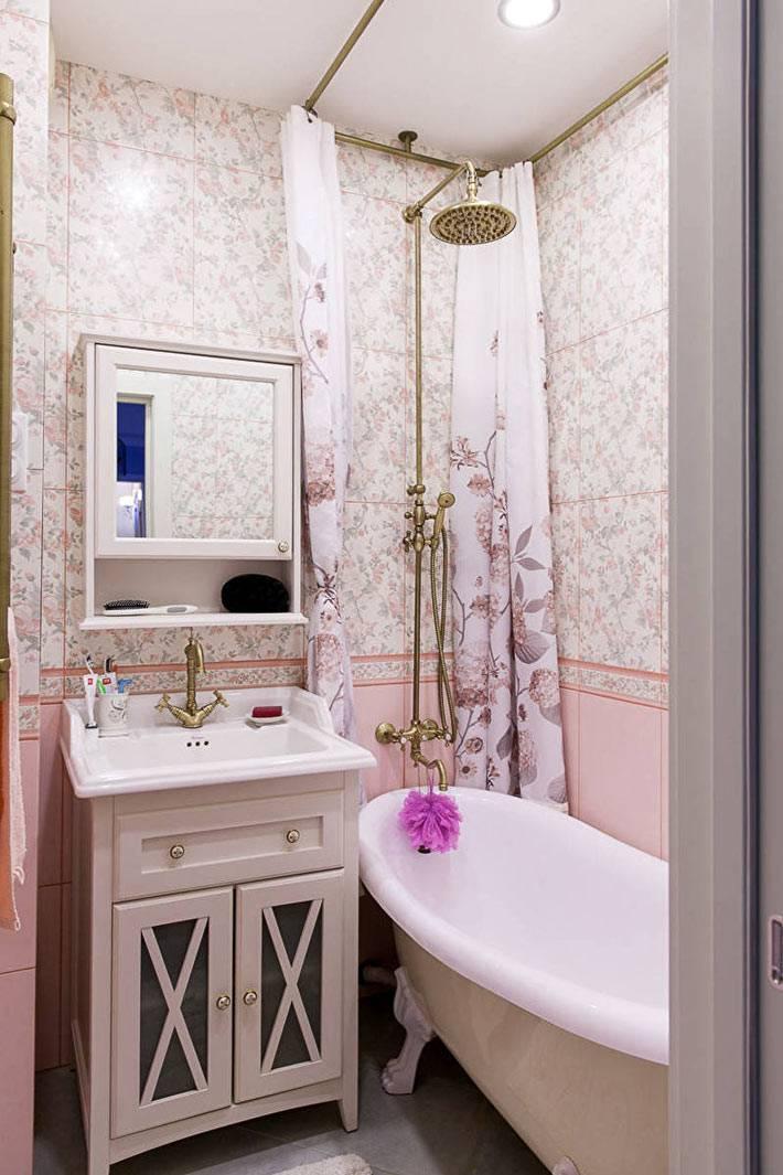 как оформить маленькую ванную комнату фото