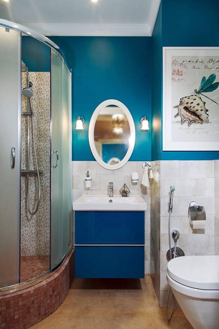 дополнительная подстветка в ванной - бра возле зеркала