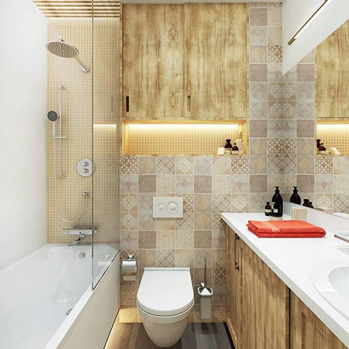 комнактное размещение мебели в ванной фото