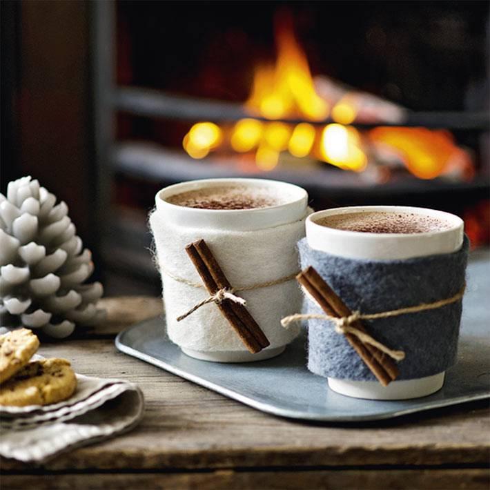 горячий чай, кофе и какао - незаменимые атрибуты зимних вечеров