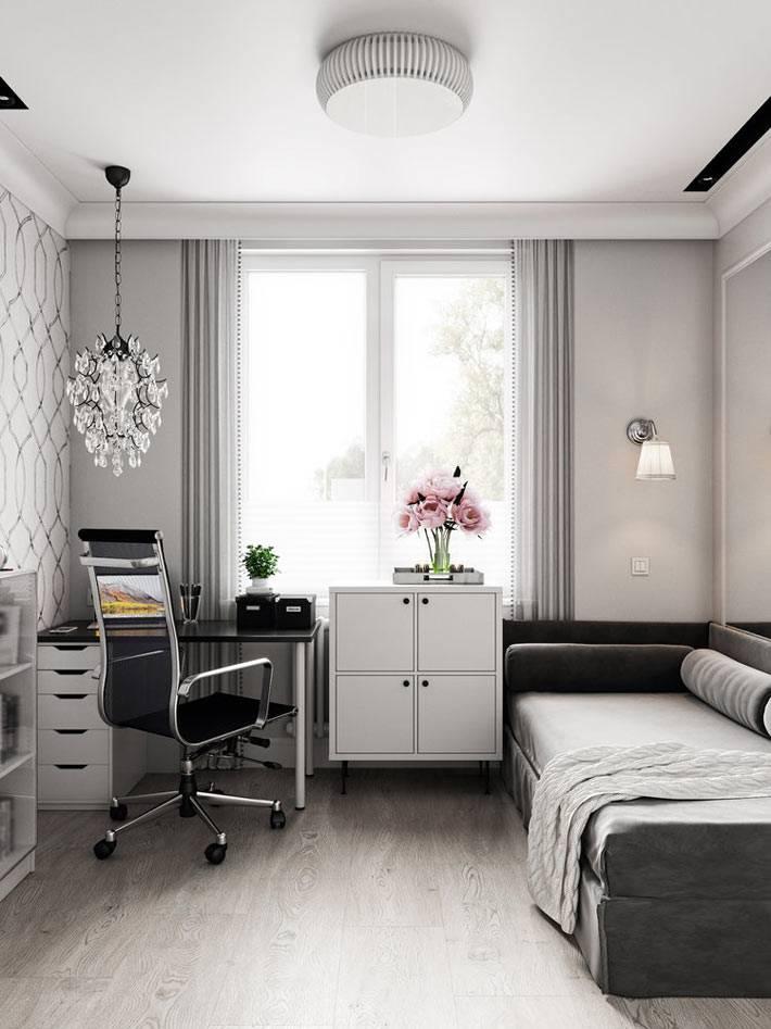 сочетание белого и серого цветов для детской комнаты