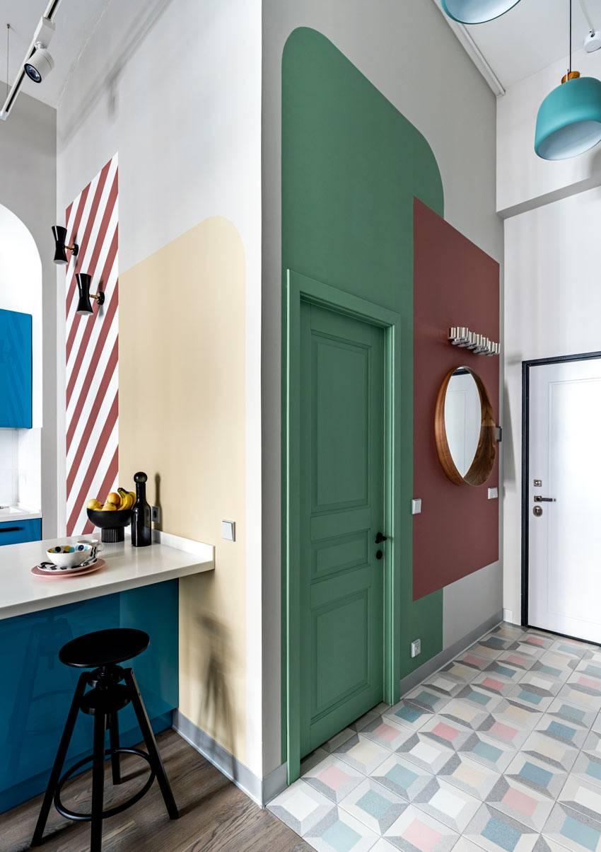 цветовое оформление стен квартиры разного цвета