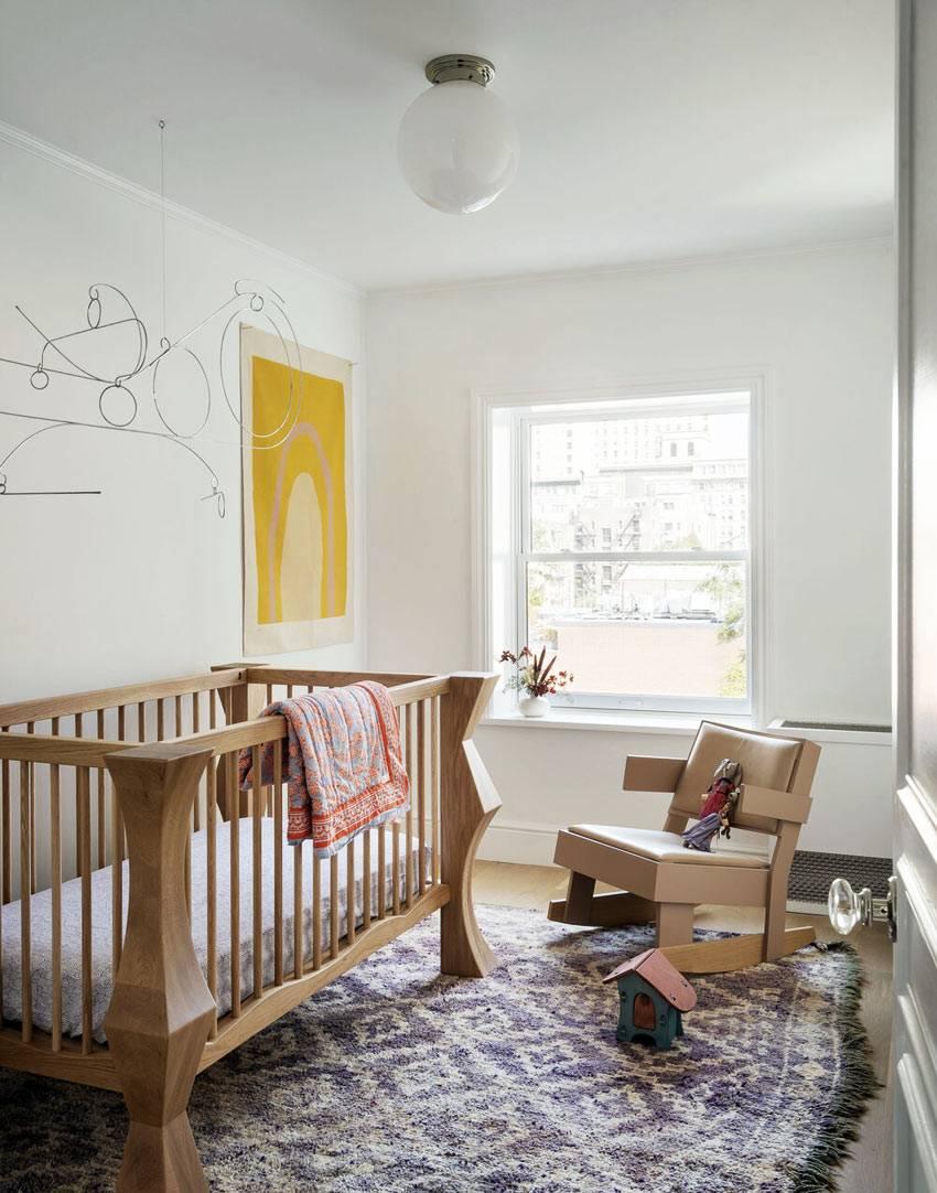 детская кроватка-люлька икресло-качалка из натурального дерева