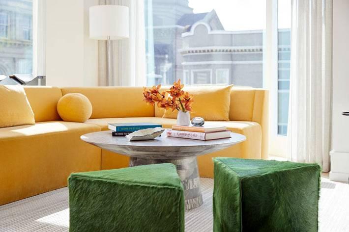Свежий дизайн квартиры в Сан-Франциско с цветными нотами