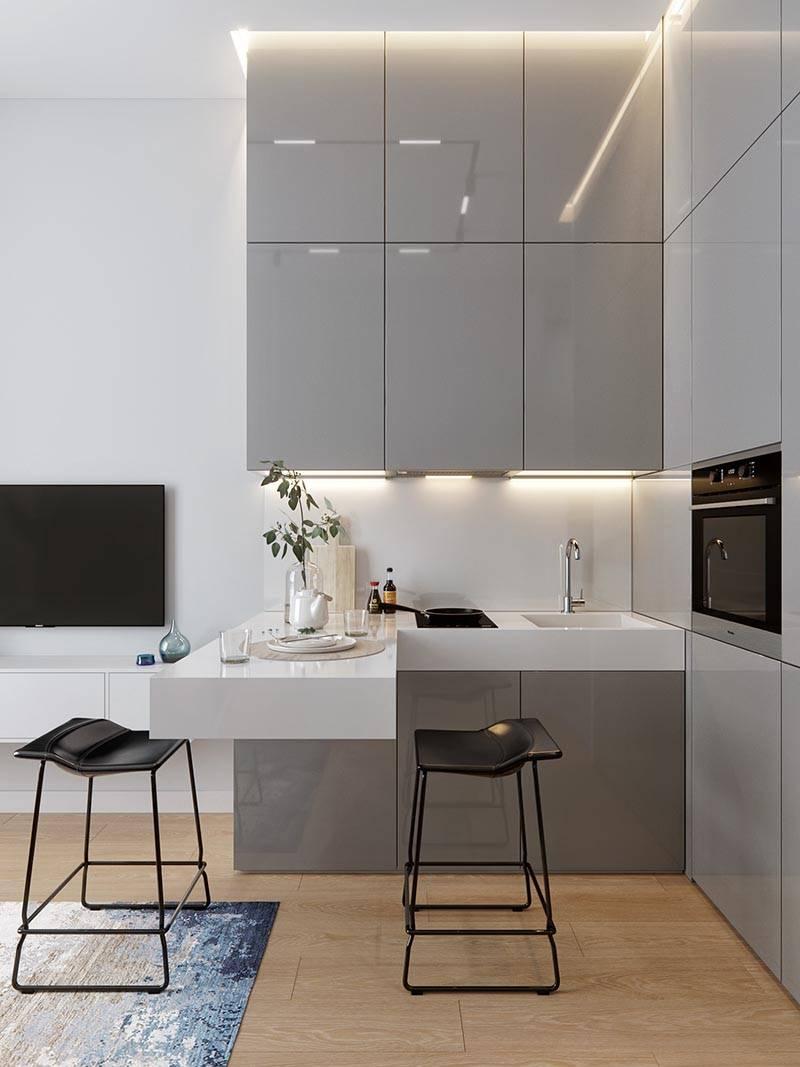 Концептуальный дизайн кухни для небольшой квартиры