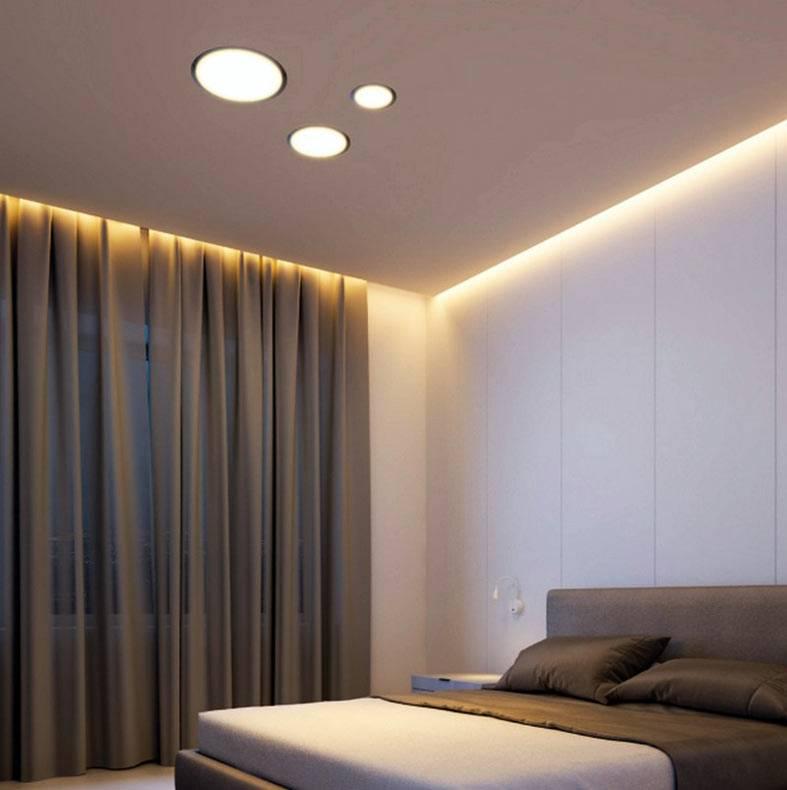 потолочная подсветка светодиодной лентой