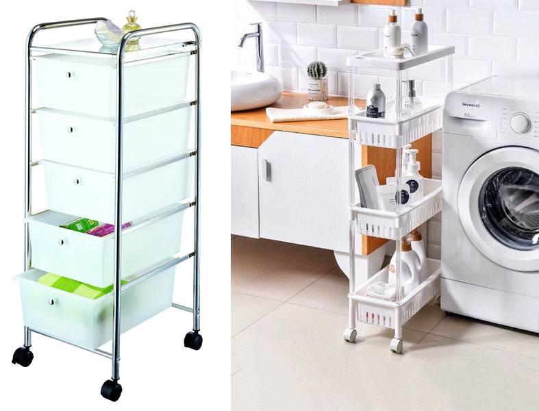 этажерки из пластика для организованного хранения