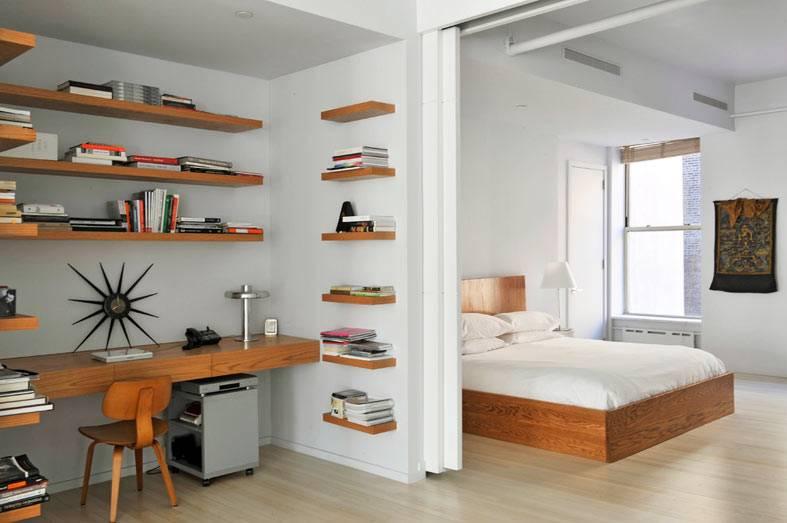классный рабочий кабинет в дополнение к спальне