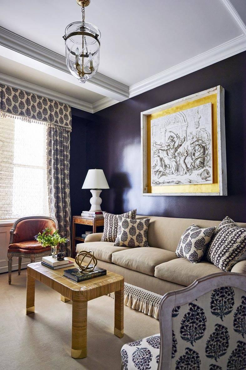 черный цвет стен в классическом кабинете фото