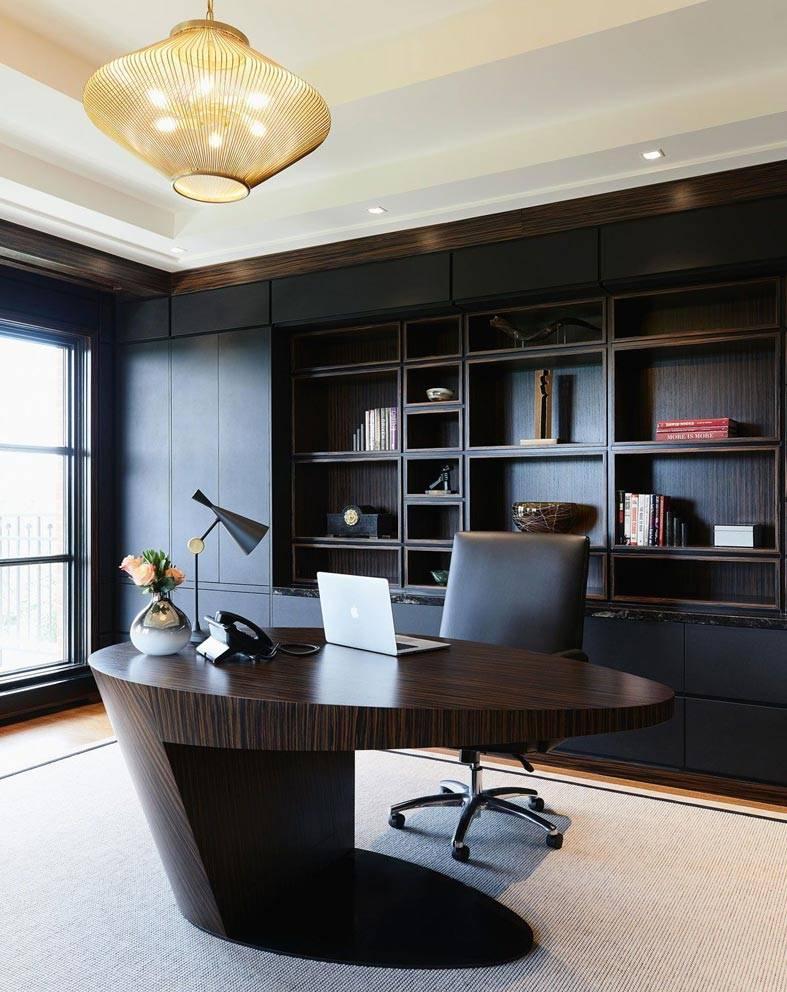 стильный овальный письменный стол фото