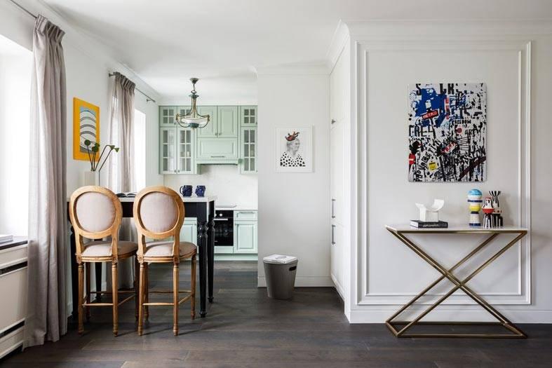 квартира-студия - кустинная совмещенная с кухней