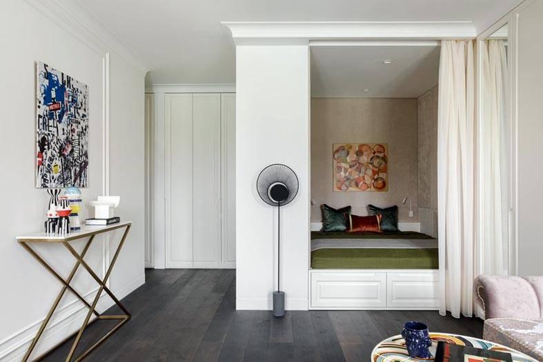 ниша для спальни в однокомнатной квартире фото