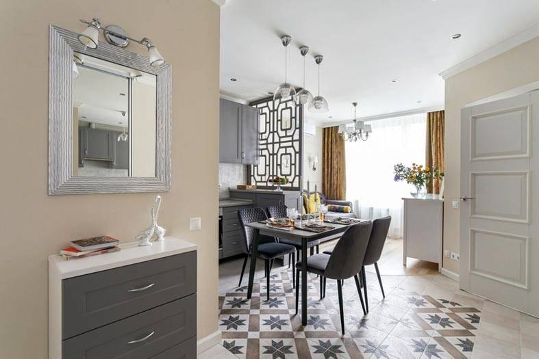 вид из прихожей на кухню в квартире фото