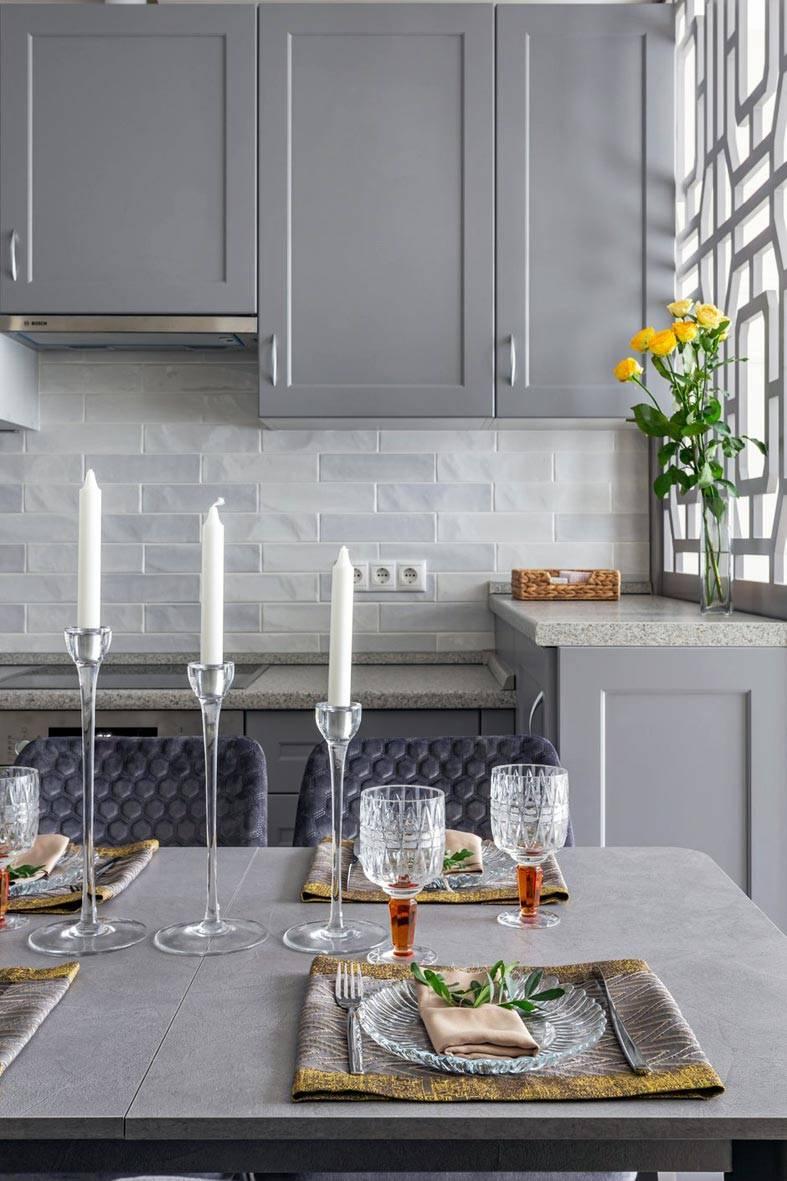 серый цвет для кухонного гарнитура фото