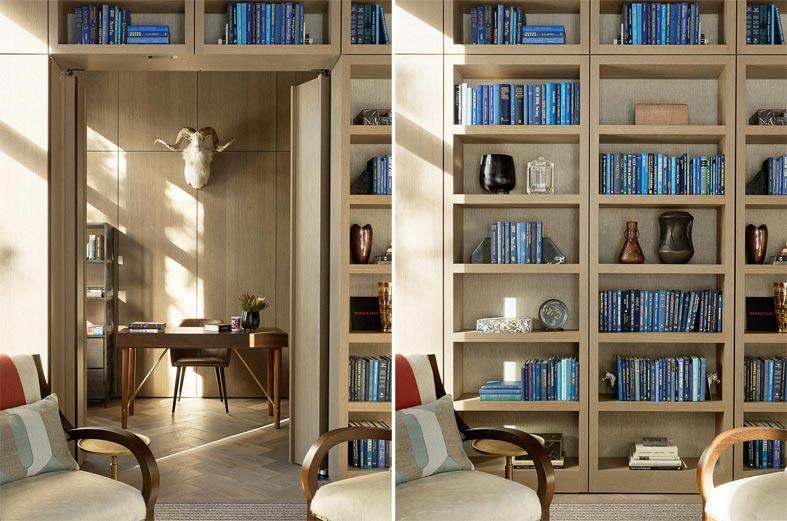 домашний кабинет в скрытой комнате за невидимой дверью