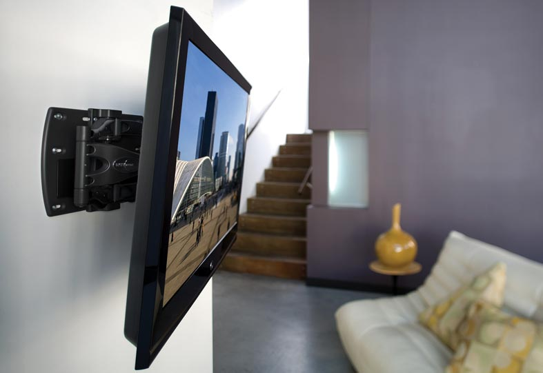наклонное крепление на стену для телевизора фото