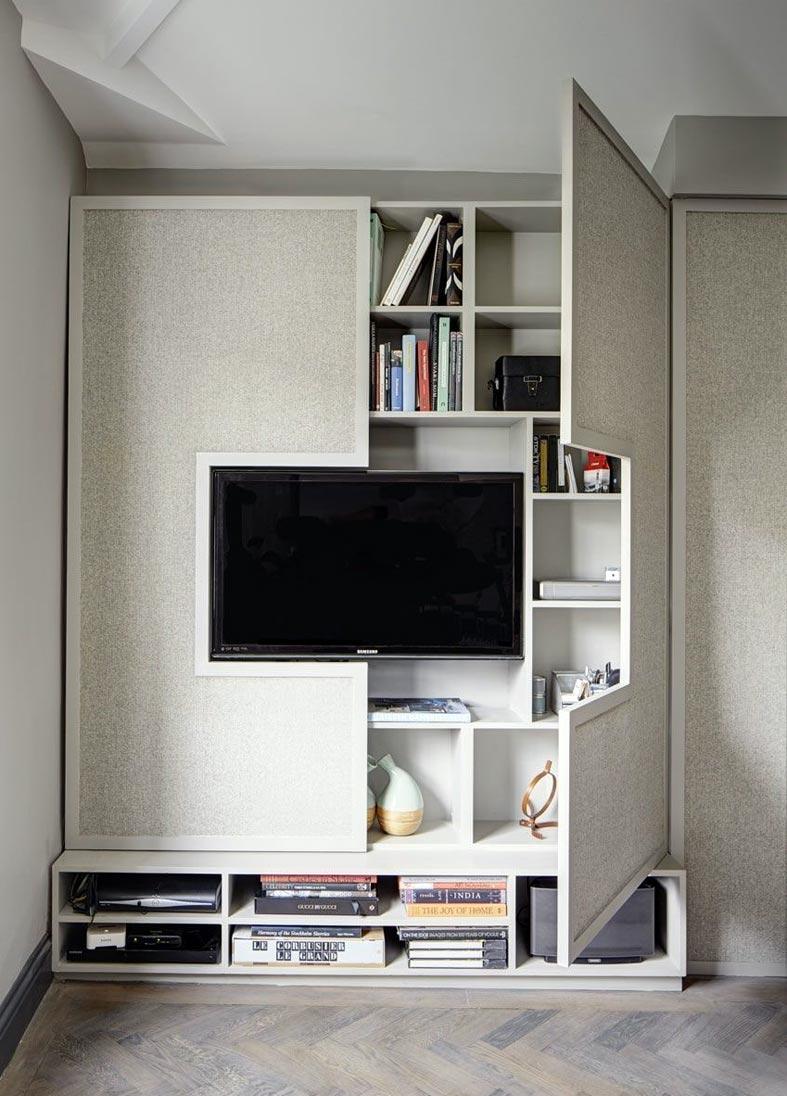 шкаф для телевизора, где можно спрятать провода