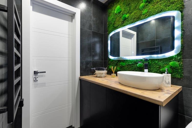 зеркало для ванной с неоновой подсветкой