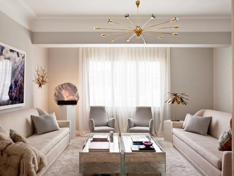гламурный дизайн интерьера гостиной фото