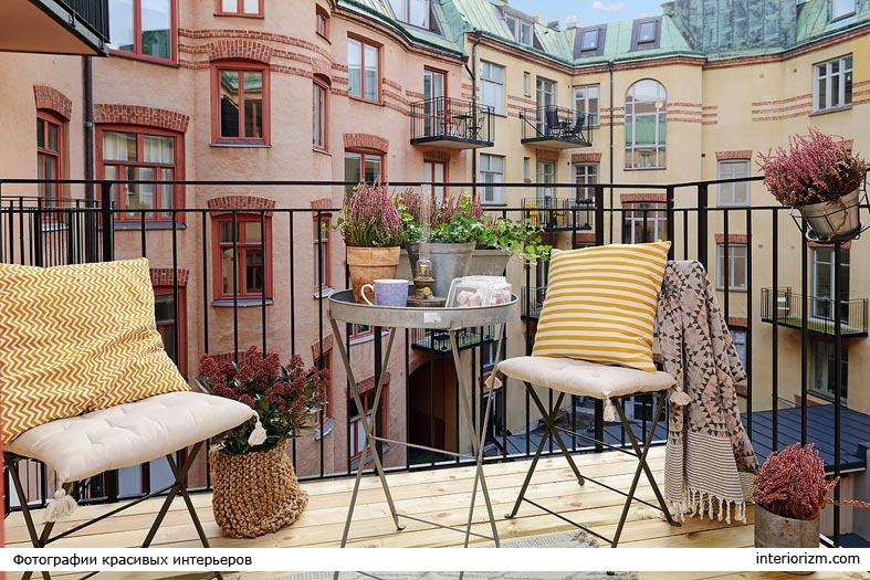 скандинавский дизайн балкона фото